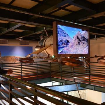 Η μεγάλη οθόνη του Παρατηρητηρίου θυμίζει πτητική μηχανή άλλης εποχής