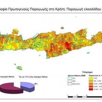 Παραγωγή ελαιολάδου στις ΤΚ της Κρήτης