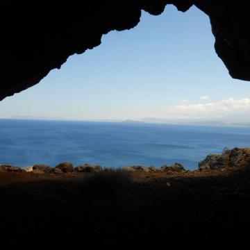Η παραλία του Μάλεμε όπως φαίνεται από τη θέση Σπηλιαρίδια Αφράτων