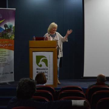 Η κα Mireille Geubel του Chrysi Eco Project παρουσιάζει τις «Εθελοντικές δράσεις για την προστασία της Χρυσής»
