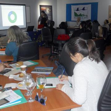 Η κα Τάνια Πλουμή, Msc Περιβαλλοντολόγος, επικεντρώθηκε στα οφέλη και τις παροχές των οικοσυστημάτων