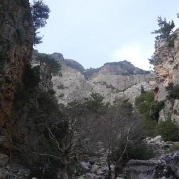 Το φαράγγι του Ρούβα ή Γάσπαρη ή Αγίου Νικολάου, ξεκινάει λίγο κάτω από τον Σκίνακα και καταλήγει στο Ζαρό.